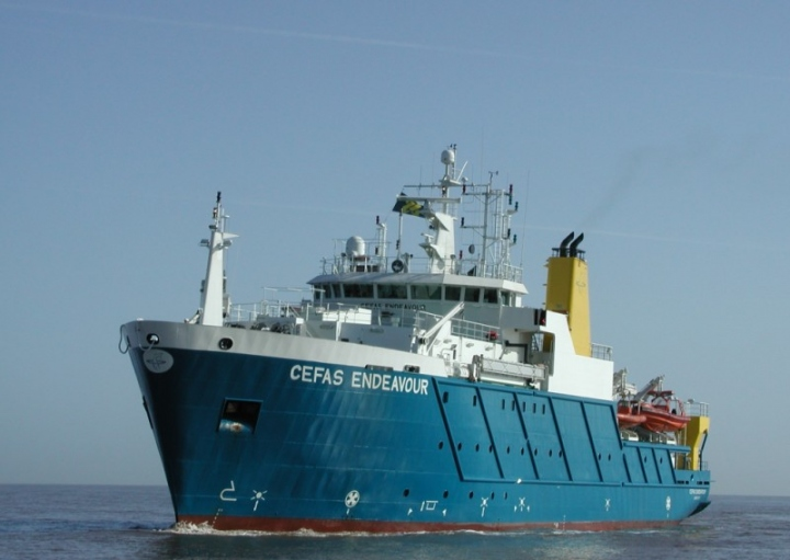 RV Cefas Endeavour was used to study some 3,300 km2 of sea off the East Anglian coast over a three year period.