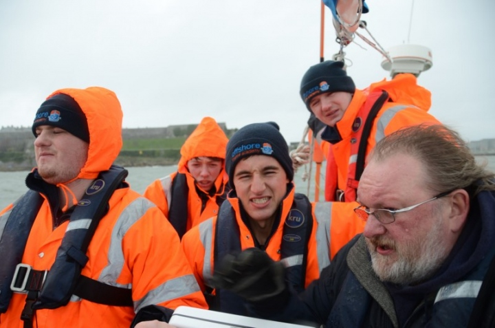 Putting their seamanship training to the test onboard the