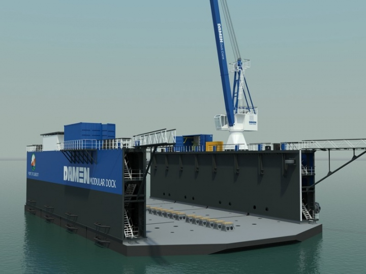 The DMD 4020 bound for the Port of Djibouti