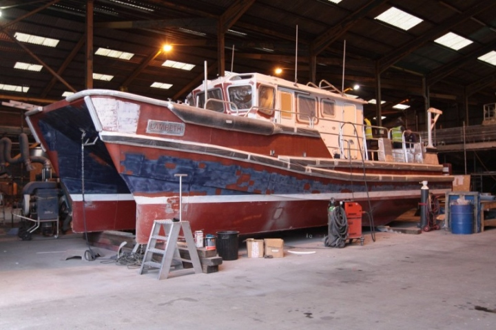 Boat under Repair at Alnmaritec (2)