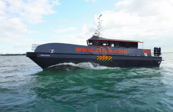CWind Astute at sea