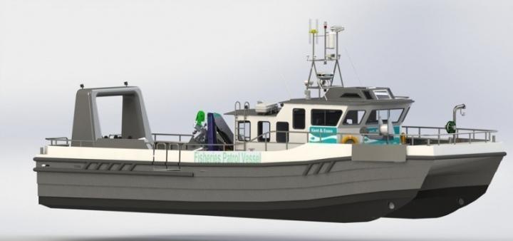 Blyth Workcats 17M patrol boat being built for Kent  Essec Fisheries