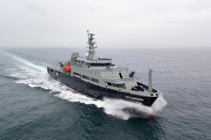 Multi-role Aviation Training Vessel MV Sycamore (1)