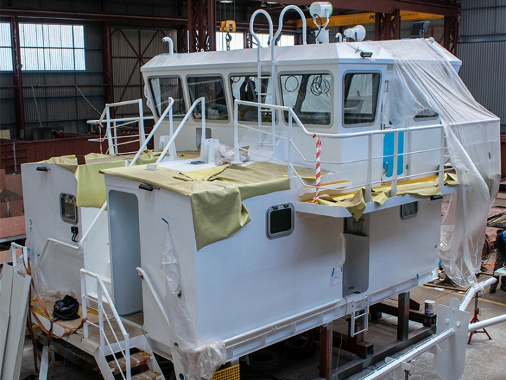 Marine Vessel Wheelhouse