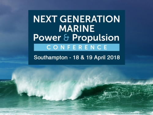 NEXT GEN Marine Power & Propulsion Conference -  Wave & Logo with Southampton & Date